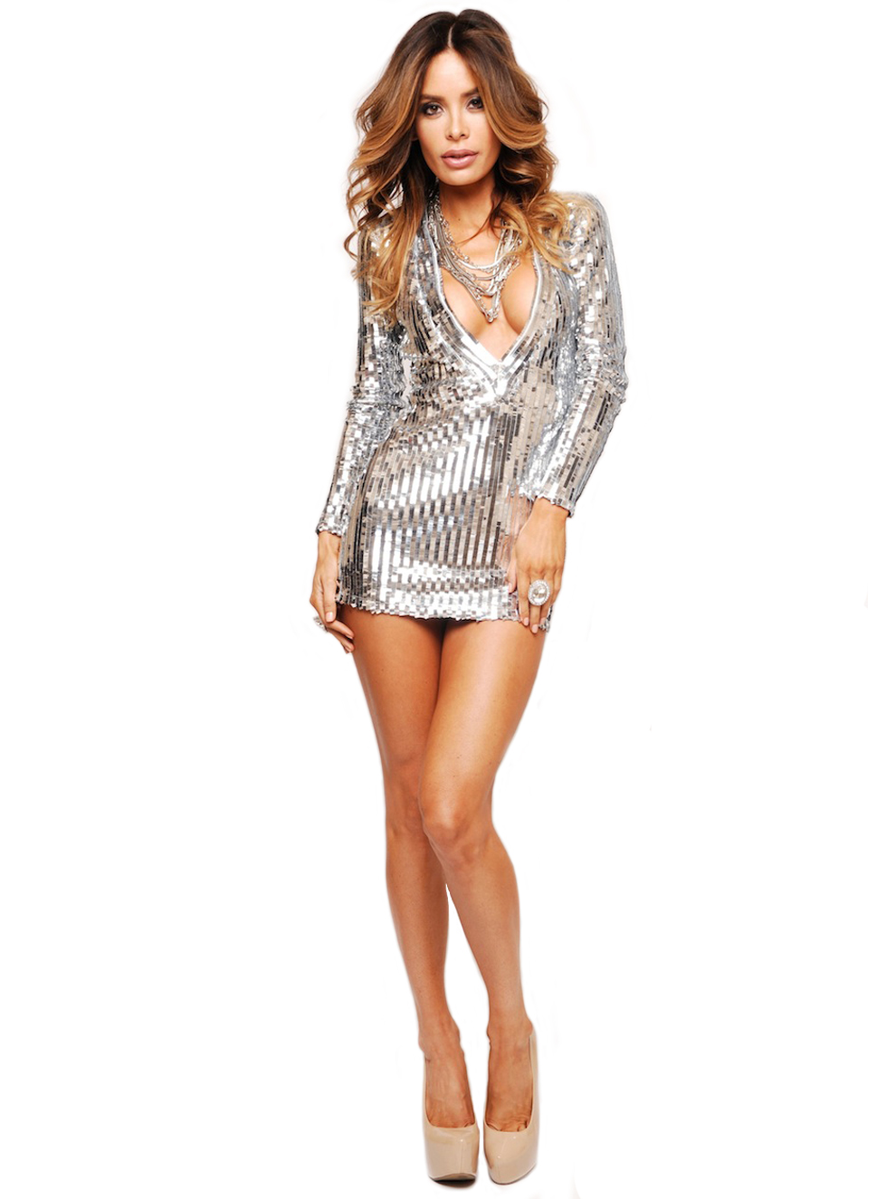 Silver Mirror Sequin Dress Designs